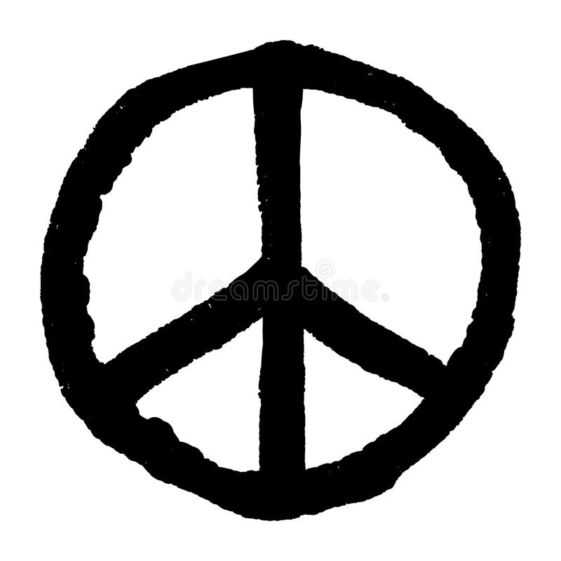 Rough Peace Symbol Royalty Free Stock Images