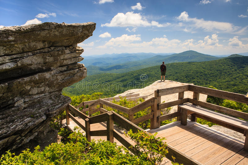 Rough Ridge Overlook Blue Ridge Parkway NC royalty free stock images