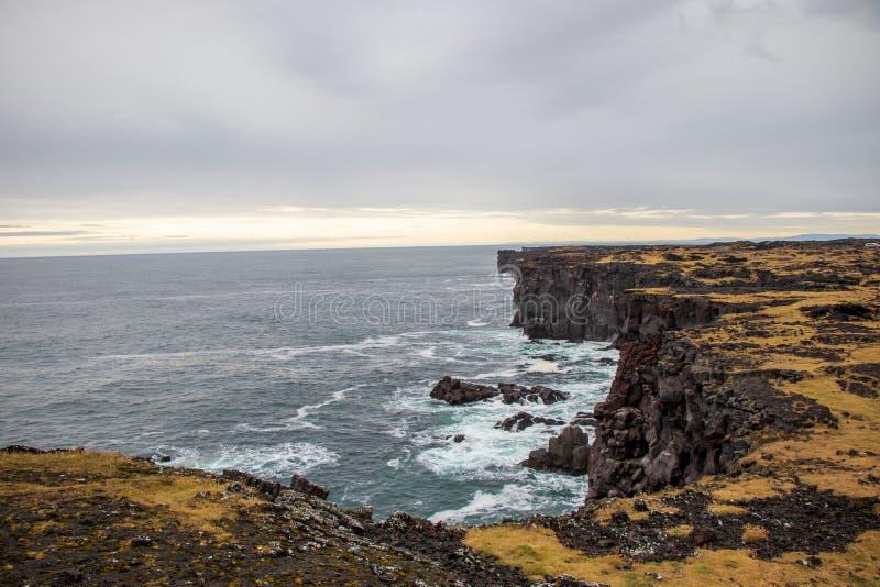 rough rugged coastline in Iceland stock image