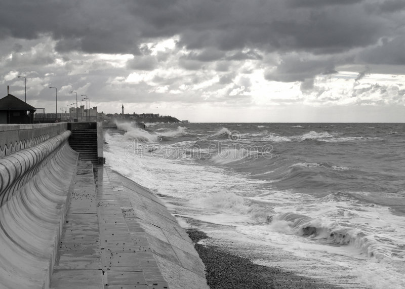 Download Rough Sea stock photo. Image of coast, wall, blackpool - 3195958