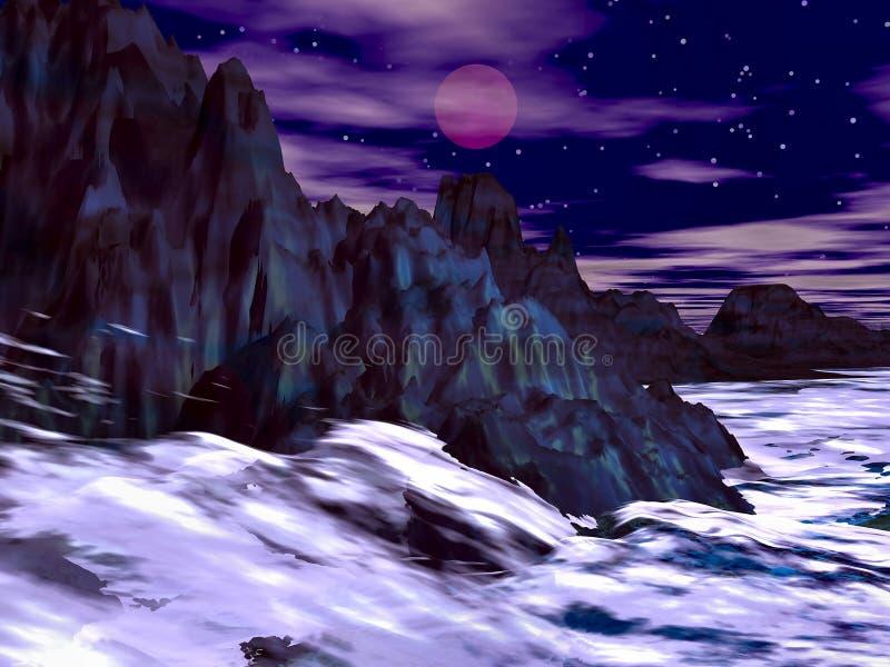 Download Rough sea stock illustration. Image of backdrop, blue - 6047307