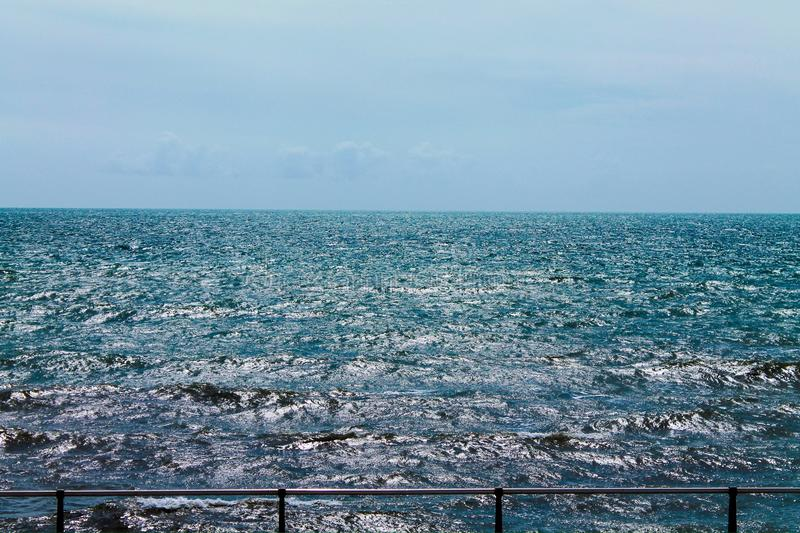 Rough sea. Rough and lively sea royalty free stock image