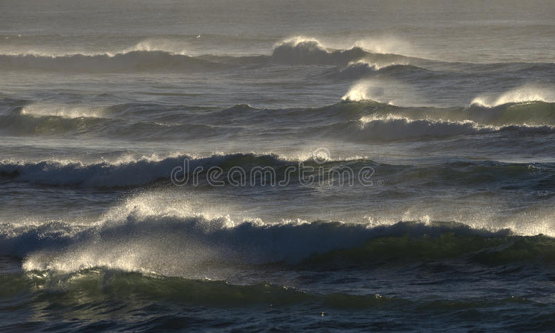 Rough seas. Off the north coast of New South Wales,Australia stock image