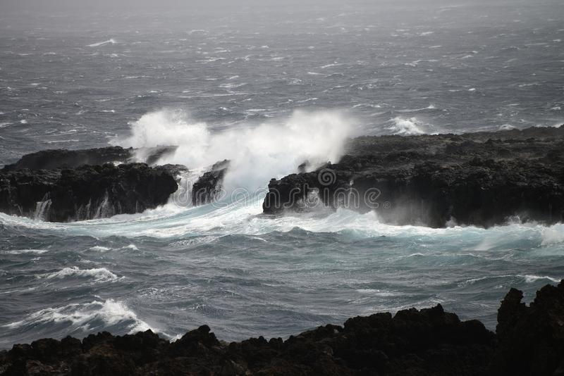 Rough seas. In atlanti cocean royalty free stock photos