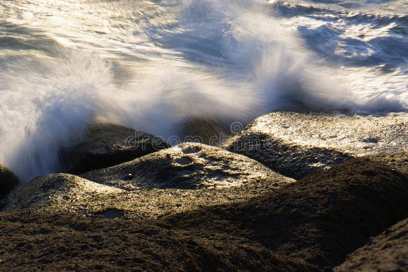 Rough seas. Nature background, waves texture royalty free stock photography