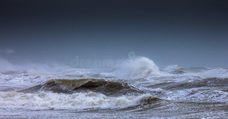 Rough Seas. Strormy Seas near Brighton England royalty free stock images
