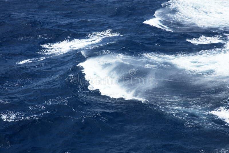 Rough seas. Very rough seas in mid ocean stock images