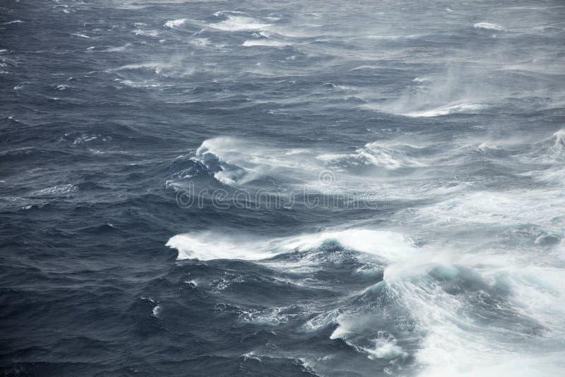 Rough seas. Very rough seas in mid ocean royalty free stock photos