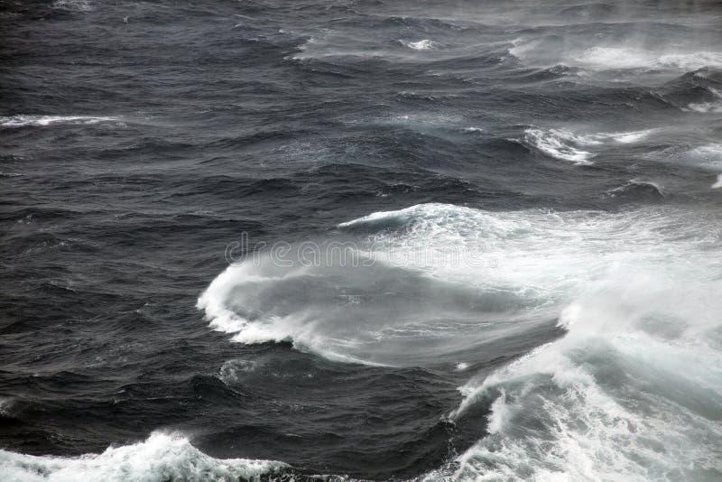 Rough seas. Very rough seas in mid ocean stock photography