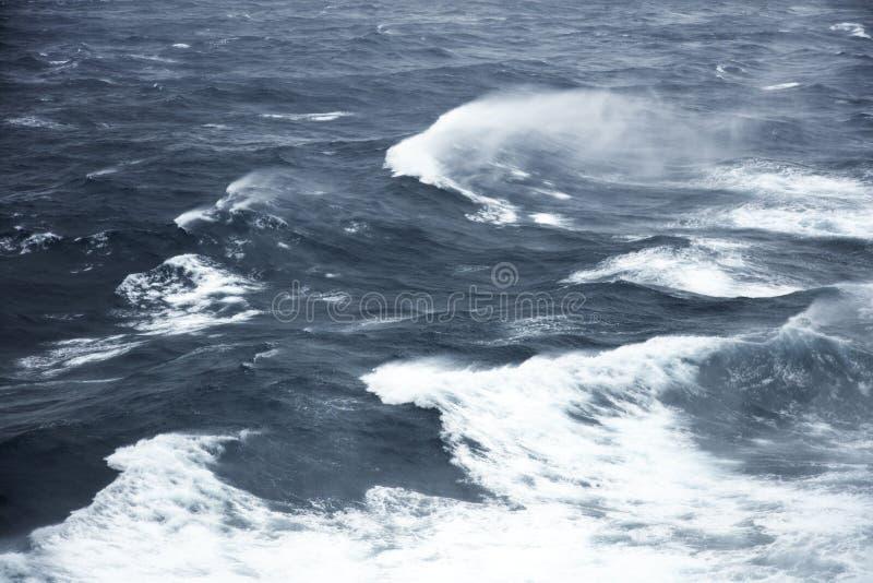 Rough seas. Very rough seas in mid ocean royalty free stock photography