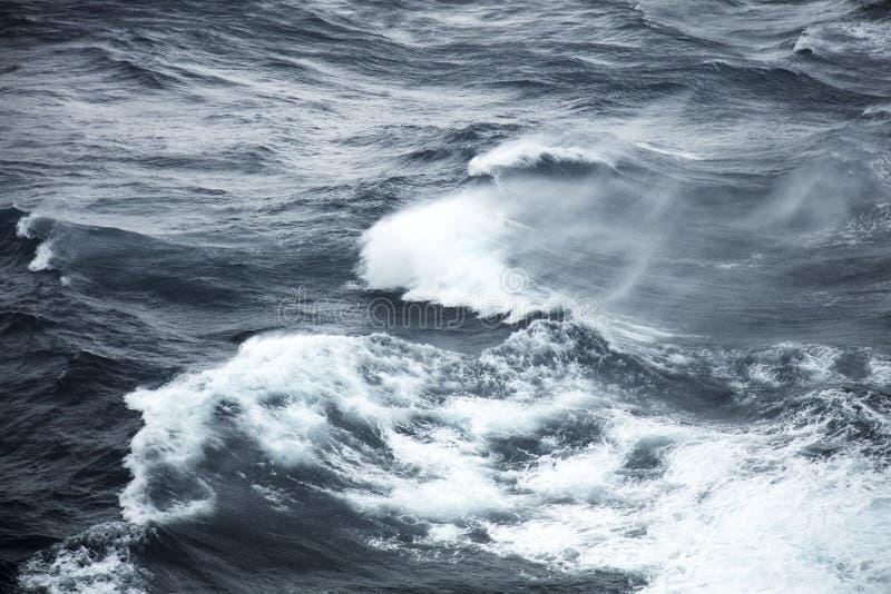 Rough seas. Very rough seas in mid ocean stock photo
