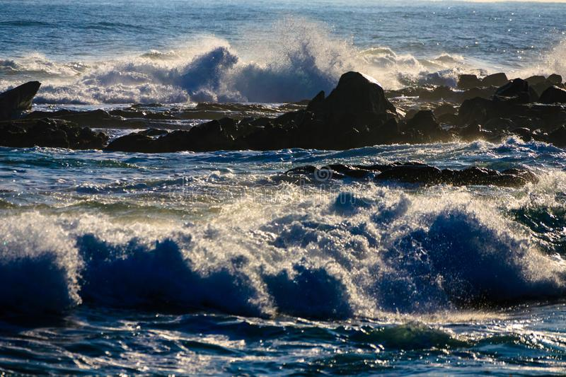 The rough seas of winter stock photography