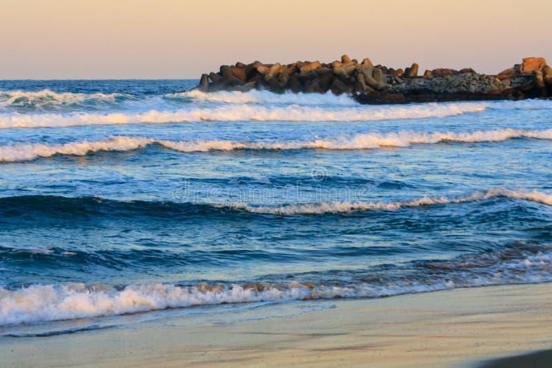 The rough seas of winter stock image