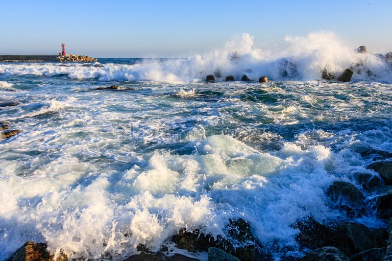 The rough seas of winter royalty free stock image