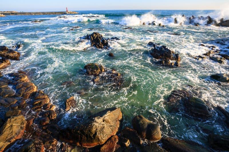 The rough seas of winter stock photos