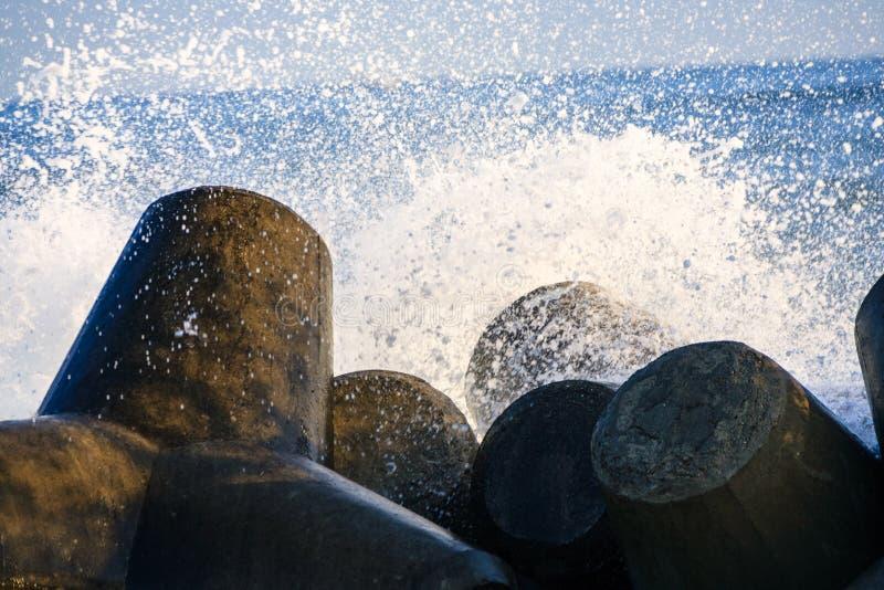 The rough seas of winter royalty free stock photos