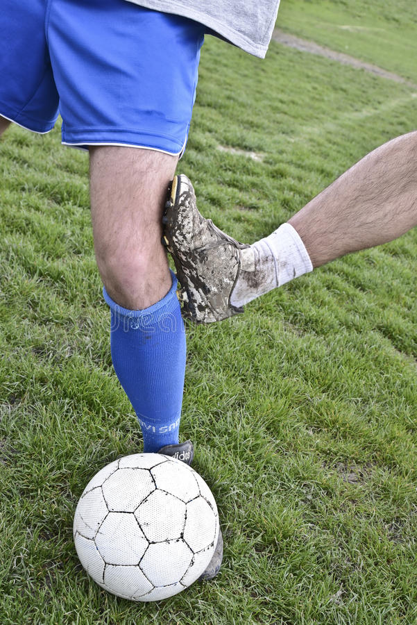Rough soccer play royalty free stock photo