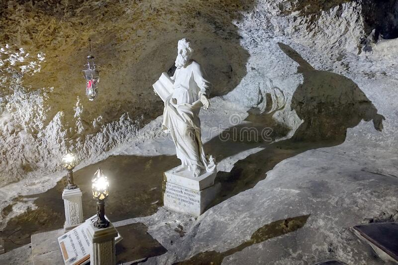 Saint Paul's Grotto in Rabat, Malta royalty free stock images
