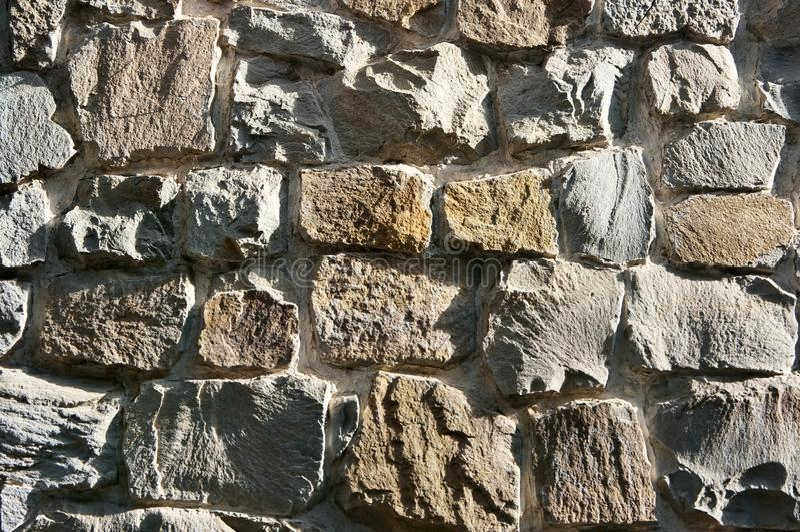 Rough stone wall texture stock photo