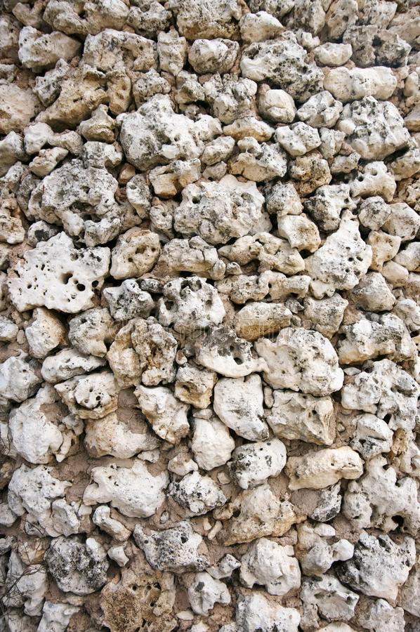 Rough stone walling texture. Ancient rough stone walling texture as background royalty free stock image