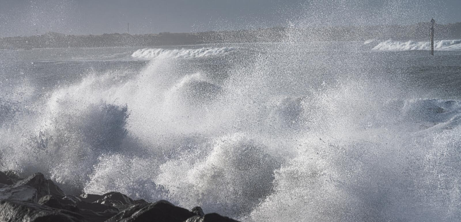 Rough Surf At Indian Rocks Beach On The Gulf Of Mexico In ...