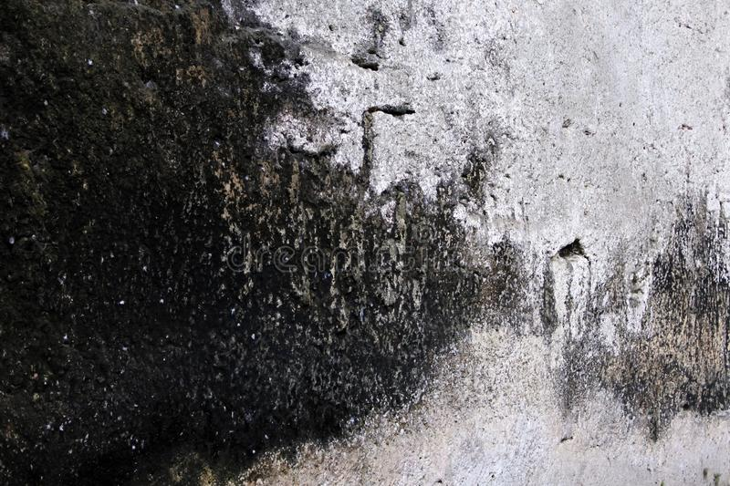 Rough surface of the stone. rock formation. shade of gray royalty free stock photos