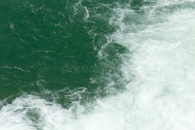 Rough water on the surface stock photos