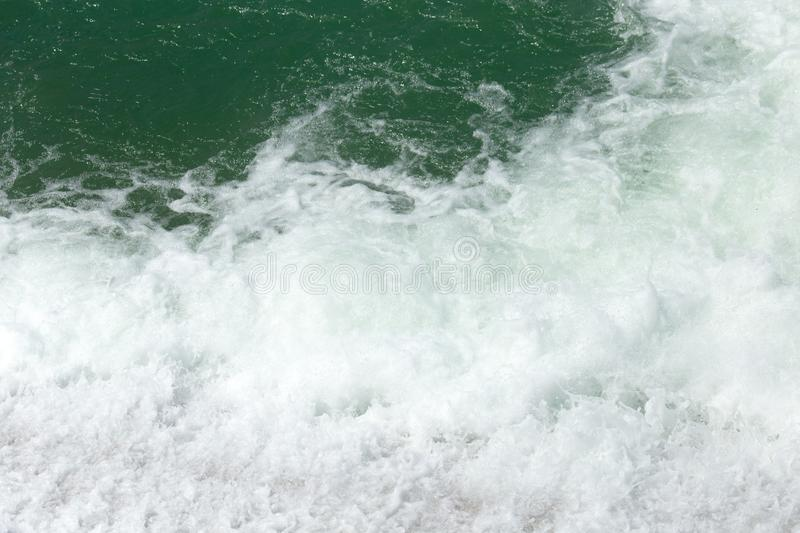 Rough water on the surface stock image