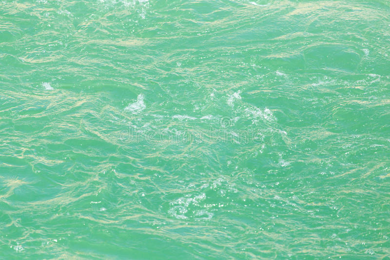 Rough water on the surface stock images