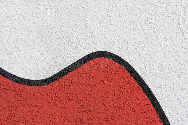 Roughcast branco e vermelho com linha preta do separador fotografia de stock royalty free