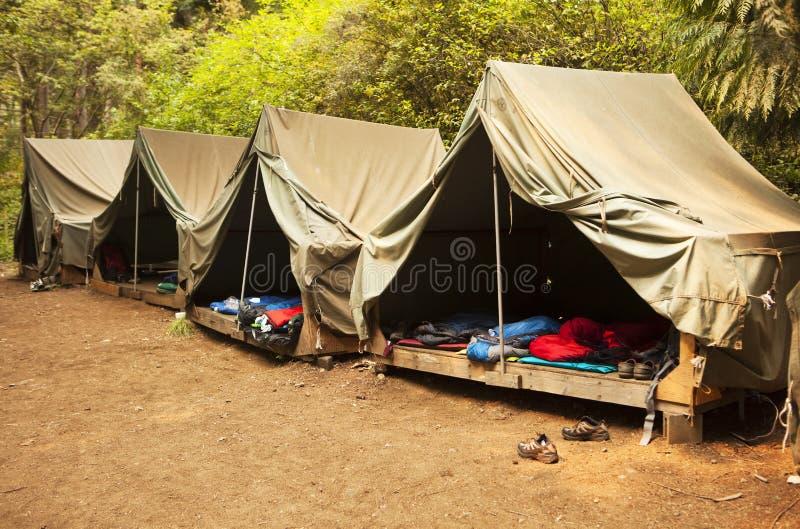 Roughing o no acampamento de Verão foto de stock royalty free