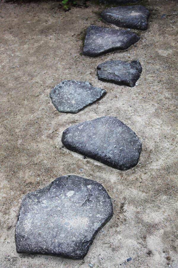 Rough stone footpath stock photos