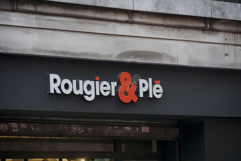 Rougier i Plé sklep zdjęcie royalty free