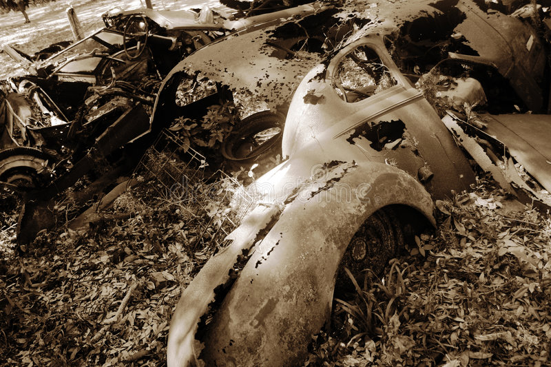 Rouille antique d'automobile images stock
