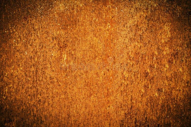 Rouille grunge en métal et texture orange pour le fond de Halloween images stock