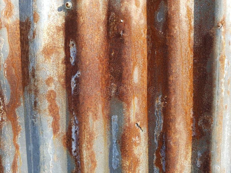 Rouille sur le fond argenté brun de la texture 01 de zinc photos stock