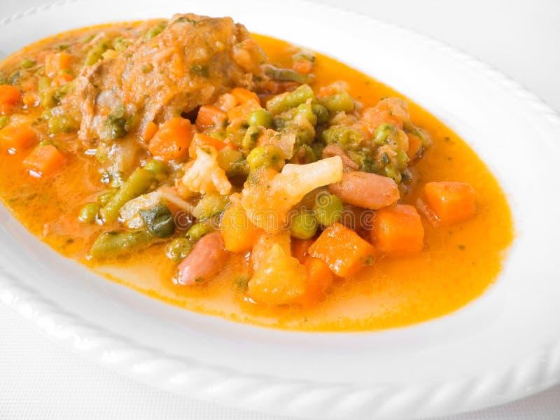 Download Roulade κρέατος πιάτων φυτικό λ&epsilon Στοκ Εικόνες - εικόνα από καρότα, λάχανο: 13190318