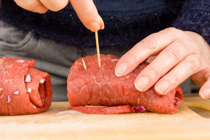 Roulade da carne fotos de stock