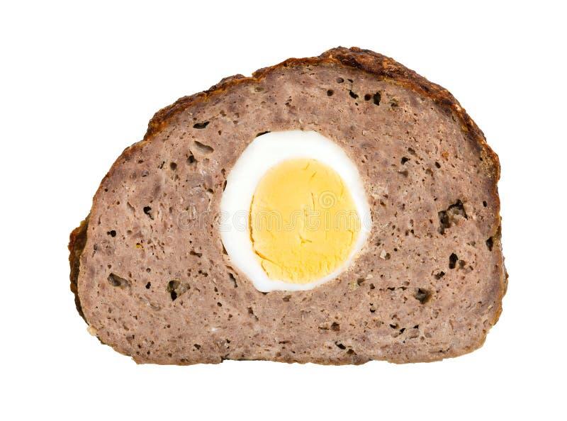 roulade från köttfärs med det kokta ägget royaltyfria foton