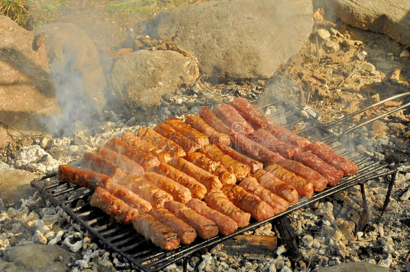 Roulades de viande grillées image libre de droits