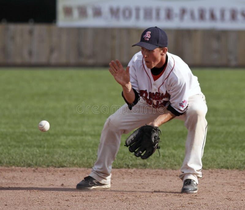 Roulant de loquet de cuvette du Canada de base-ball image libre de droits