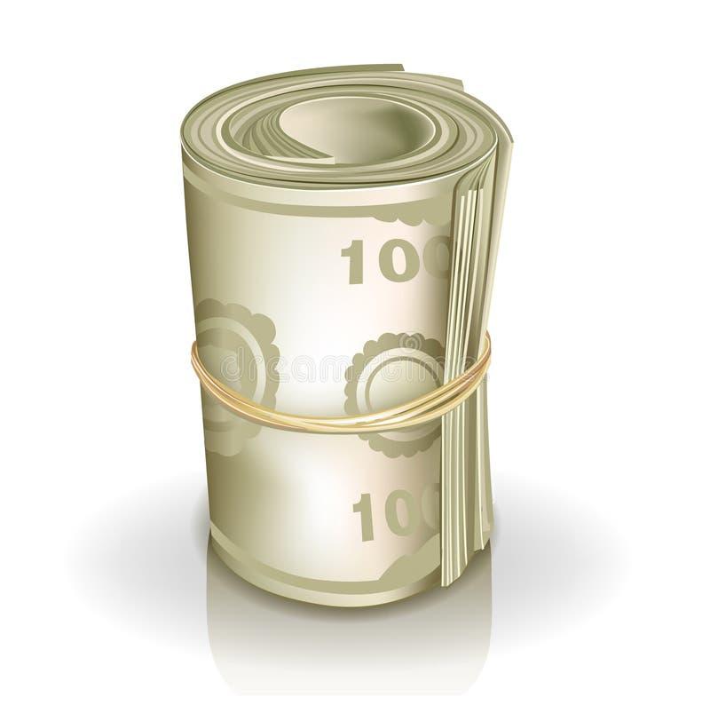 Rouleau d'argent illustration libre de droits