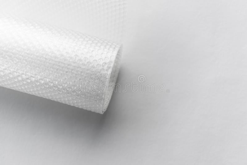 Rouleau d'emballage en plastique de bulles photo libre de droits