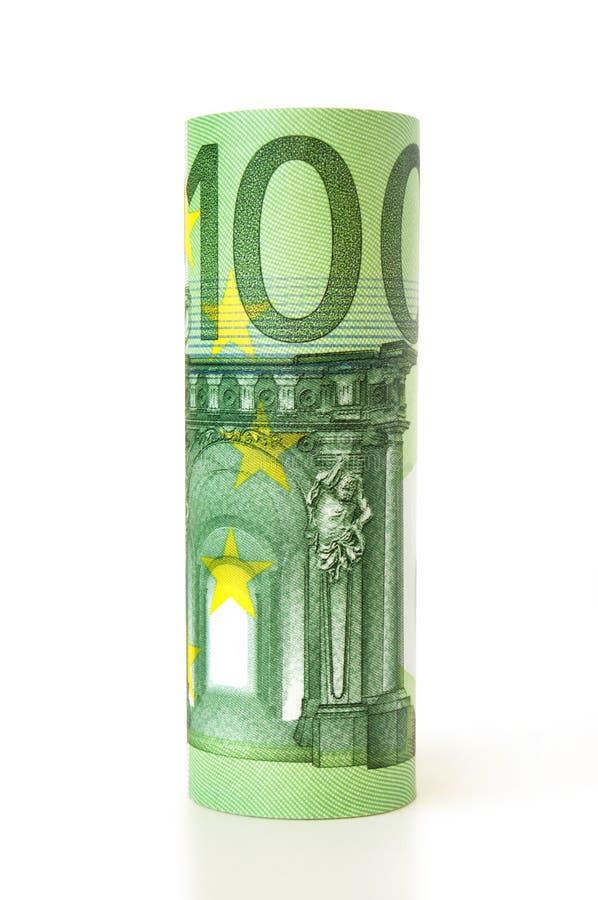 Rouleau d'euro argent images stock