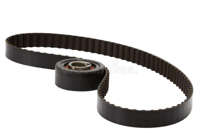 Rouleau de ceinture et de tendeur, d'isolement sur le fond blanc photo libre de droits