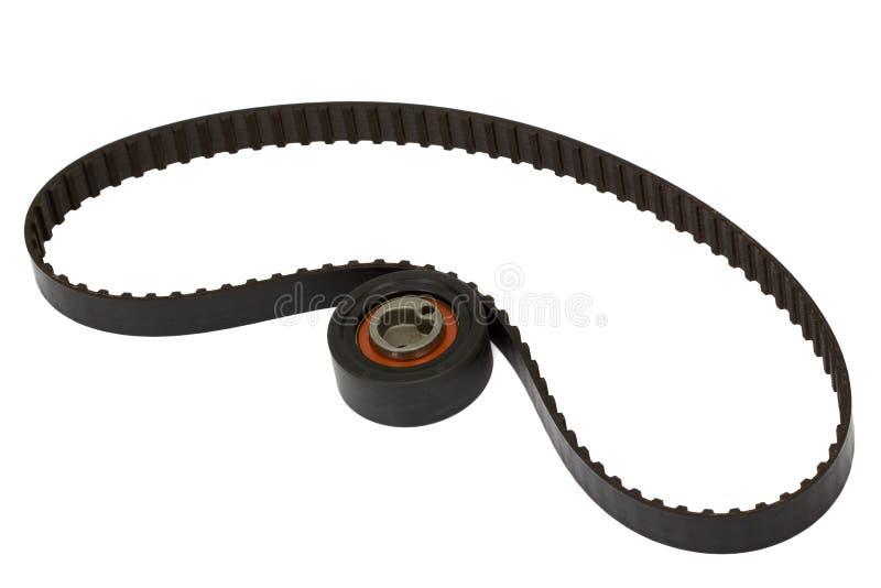 Rouleau de ceinture et de tendeur, d'isolement sur le fond blanc image libre de droits