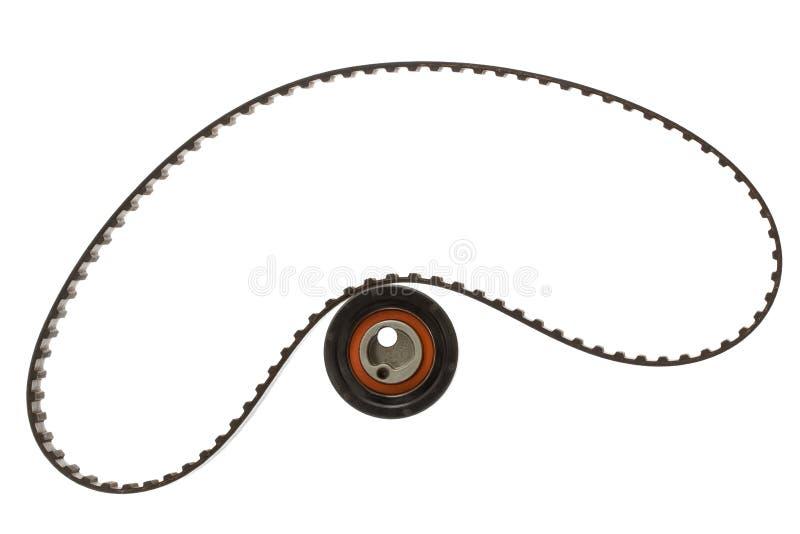 Rouleau de ceinture et de tendeur, d'isolement sur le fond blanc photos stock