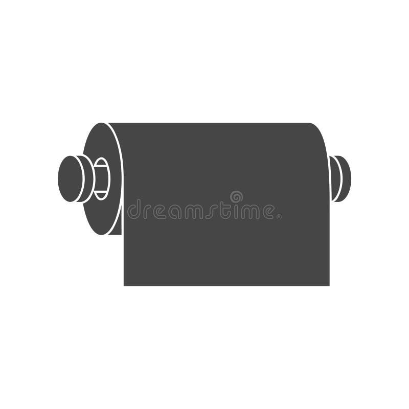 Rouleau de conception graphique plate d'icône de papier hygiénique - illustration illustration libre de droits