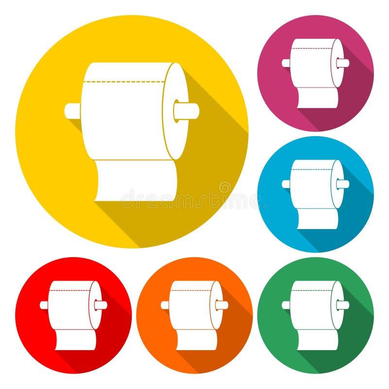 Rouleau de conception graphique plate d'icône de papier hygiénique - illustration illustration de vecteur