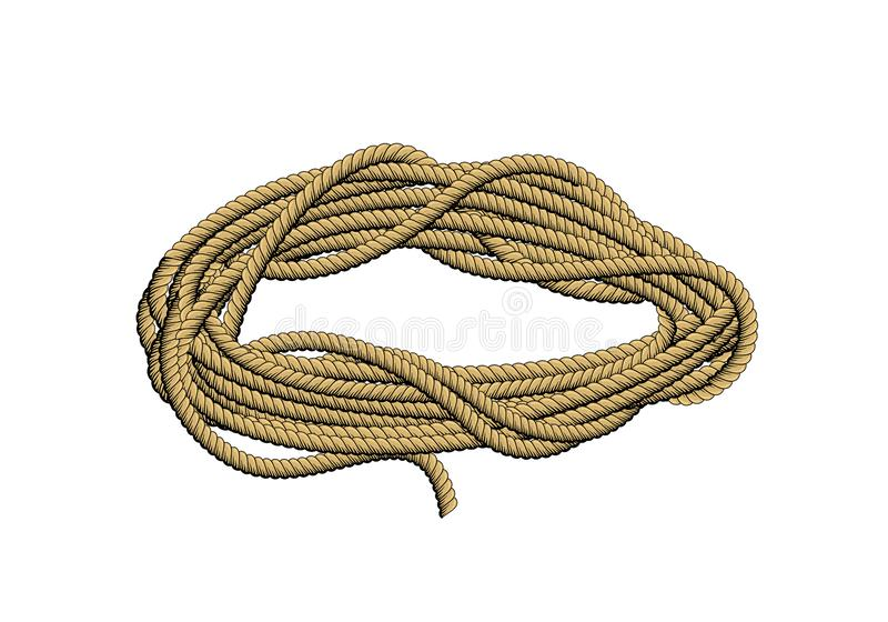 Rouleau de corde illustration stock